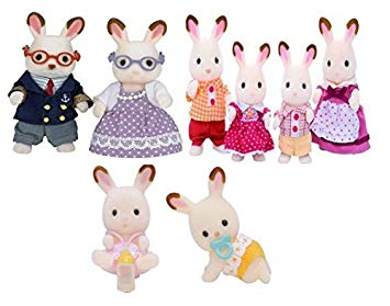 Sylvanian families set bundle. Bunny clipart family