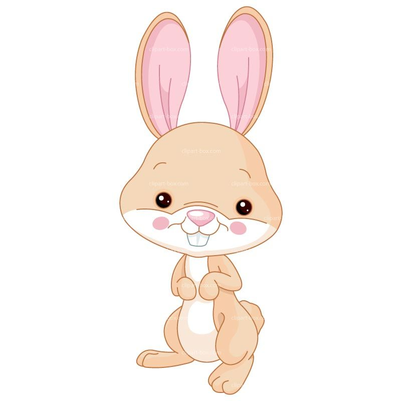 Cute royalty free vector. Bunny clipart forest