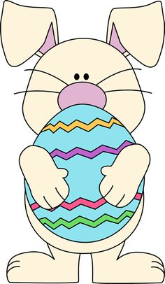 Clipart easter. Bunny art with giant