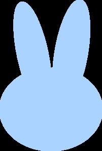 Blue bunny clip art. Bunnies clipart head