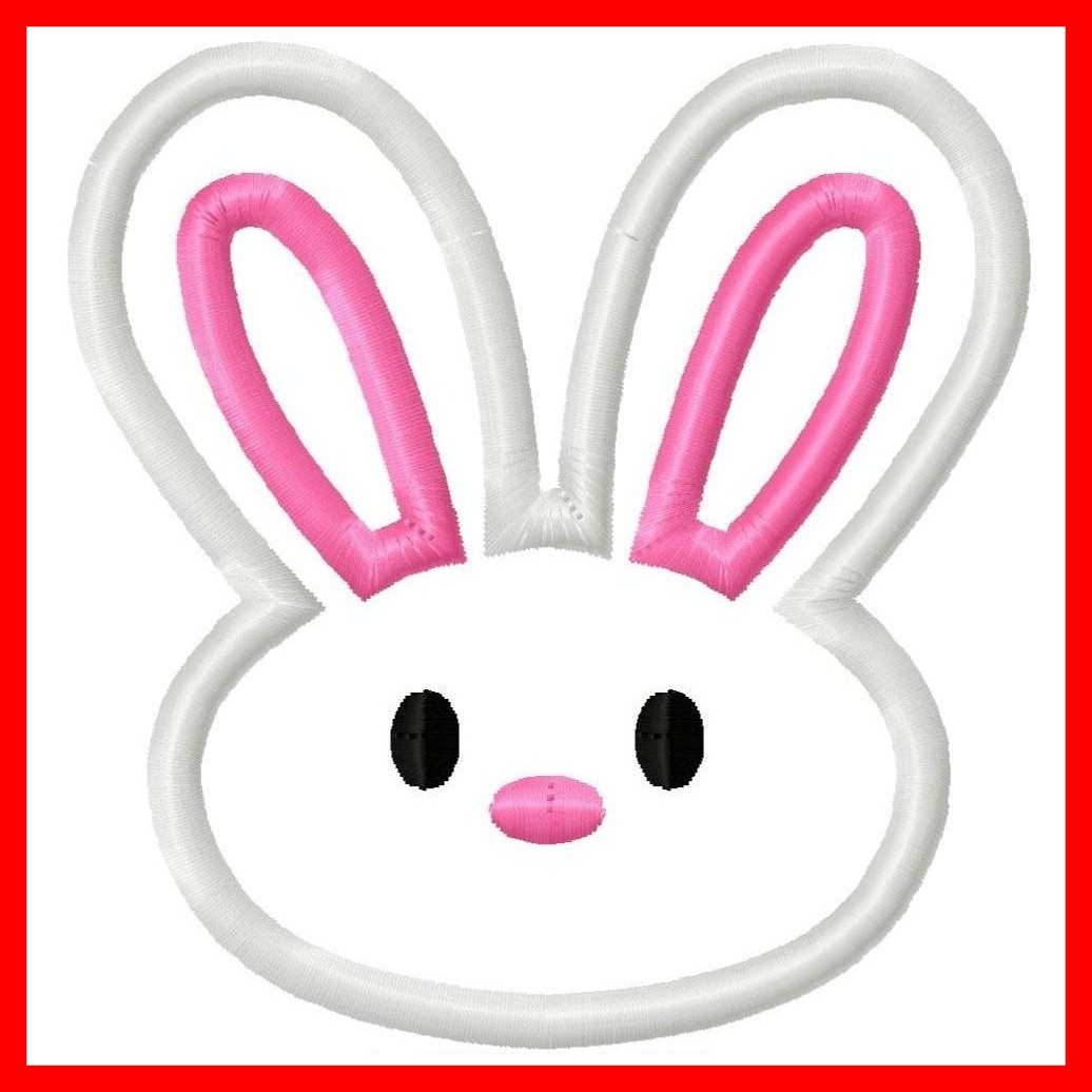 Bunnies clipart head. Appealing bunny face collection