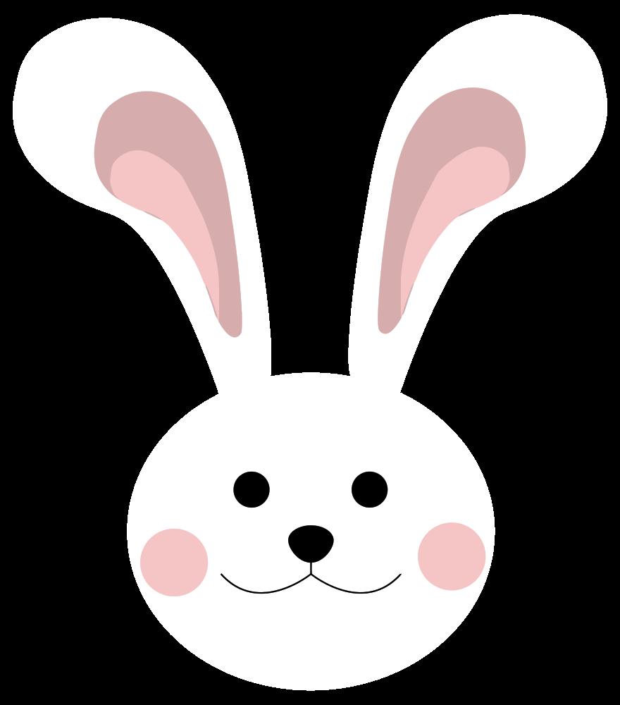 Cute bunny onlinelabels clip. Bunnies clipart head