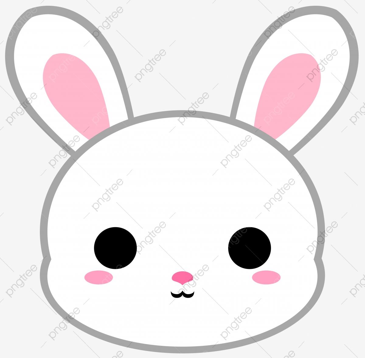 Bunnies clipart head. Cartoon white bunny rabbit