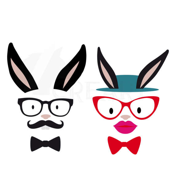 Bunnies clipart hipster. Silhouette at getdrawings com
