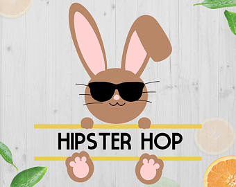 Bunnies clipart hipster. Rabbit svg etsy bunny