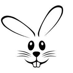 Bunny rabbit reusable stencil. Bunnies clipart hipster