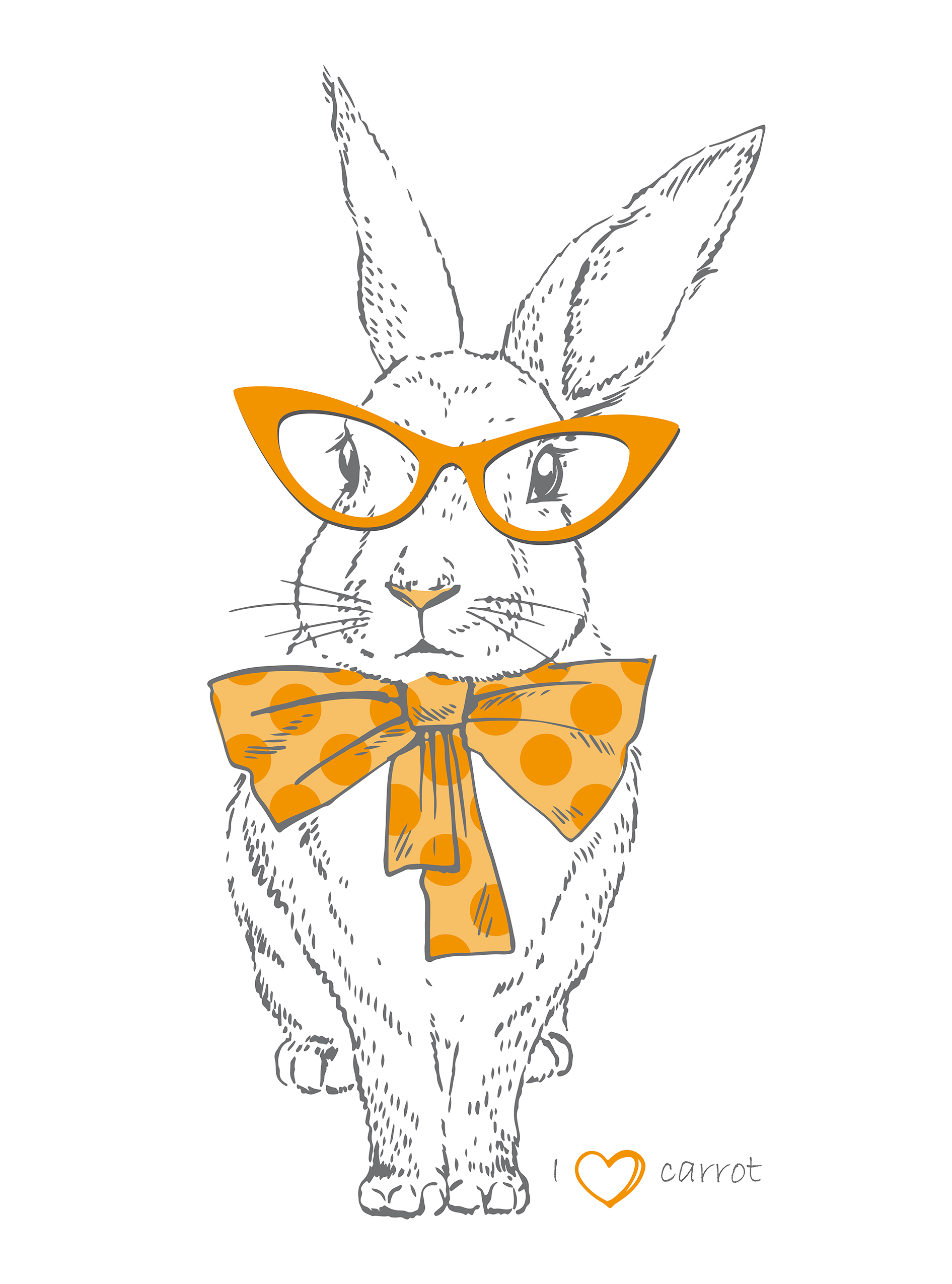 Free easter bunny printable. Bunnies clipart hipster
