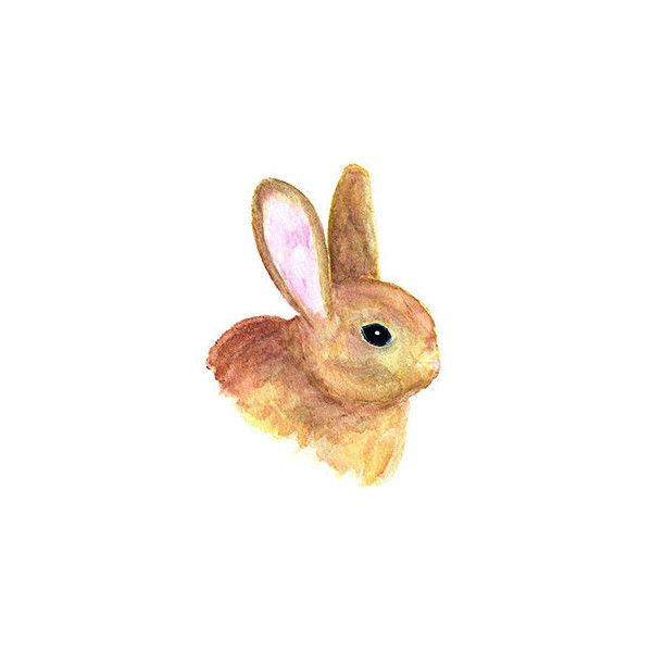 Hand painted watercolor easter. Bunny clipart home