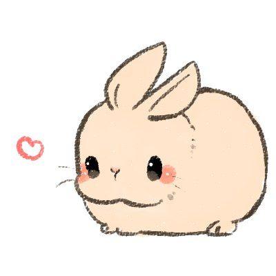 Bunny clipart kawaii. Pinteres more