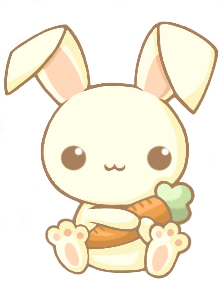 Cute japanese is so. Bunny clipart kawaii
