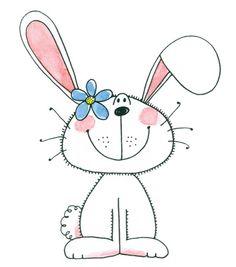 Coelhos e p scoa. Bunny clipart adorable