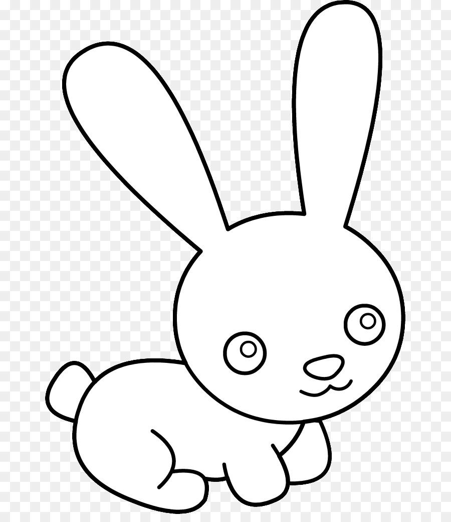 Easter bunny hare rabbit. Bunnies clipart line art
