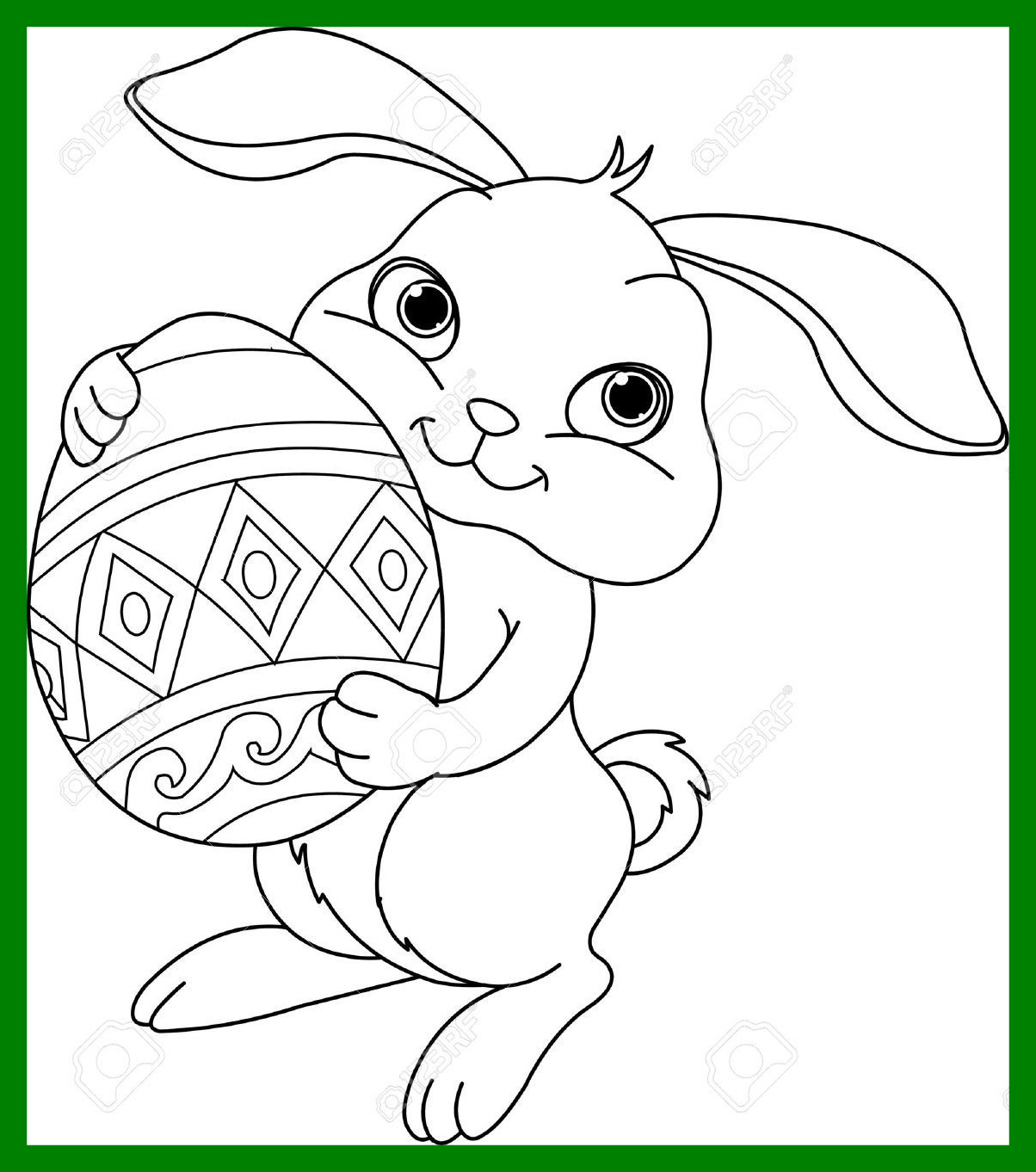 Bunny clipart line art. Incredible easter drawing at