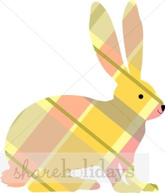 Plaid clip art easter. Bunny clipart modern