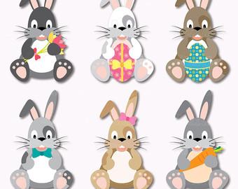 Easter clip art bunny. Bunnies clipart printable