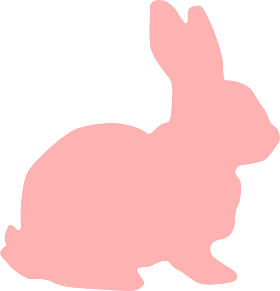 Pink clip art at. Clipart bunny silhouette