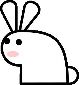 Bunny clipart simple. Rabbit clip art at