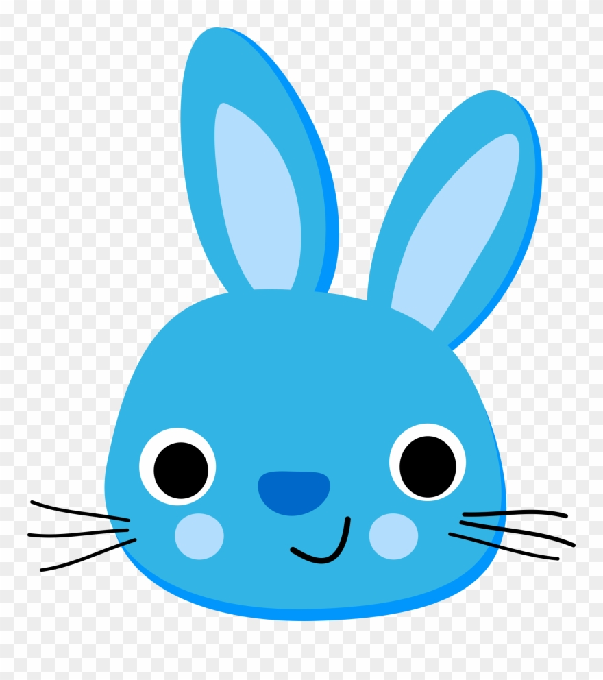 Bunny clipart simple. Rabbit blue png download