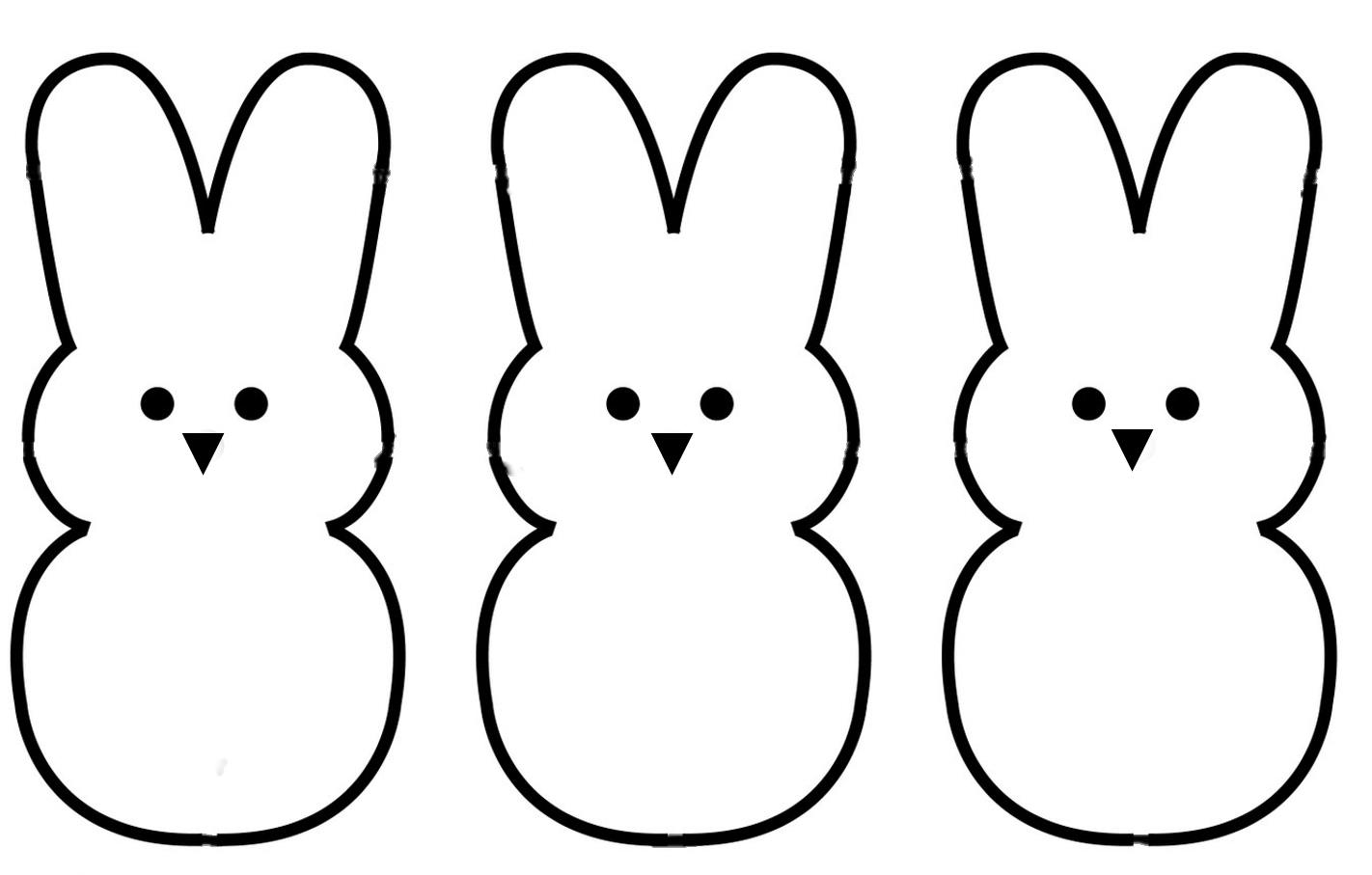 Bunny clipart simple. Easter black and white