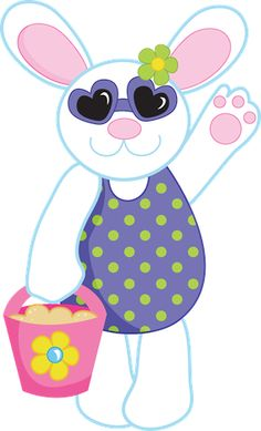 Rabbit pencil and in. Bunny clipart swimming