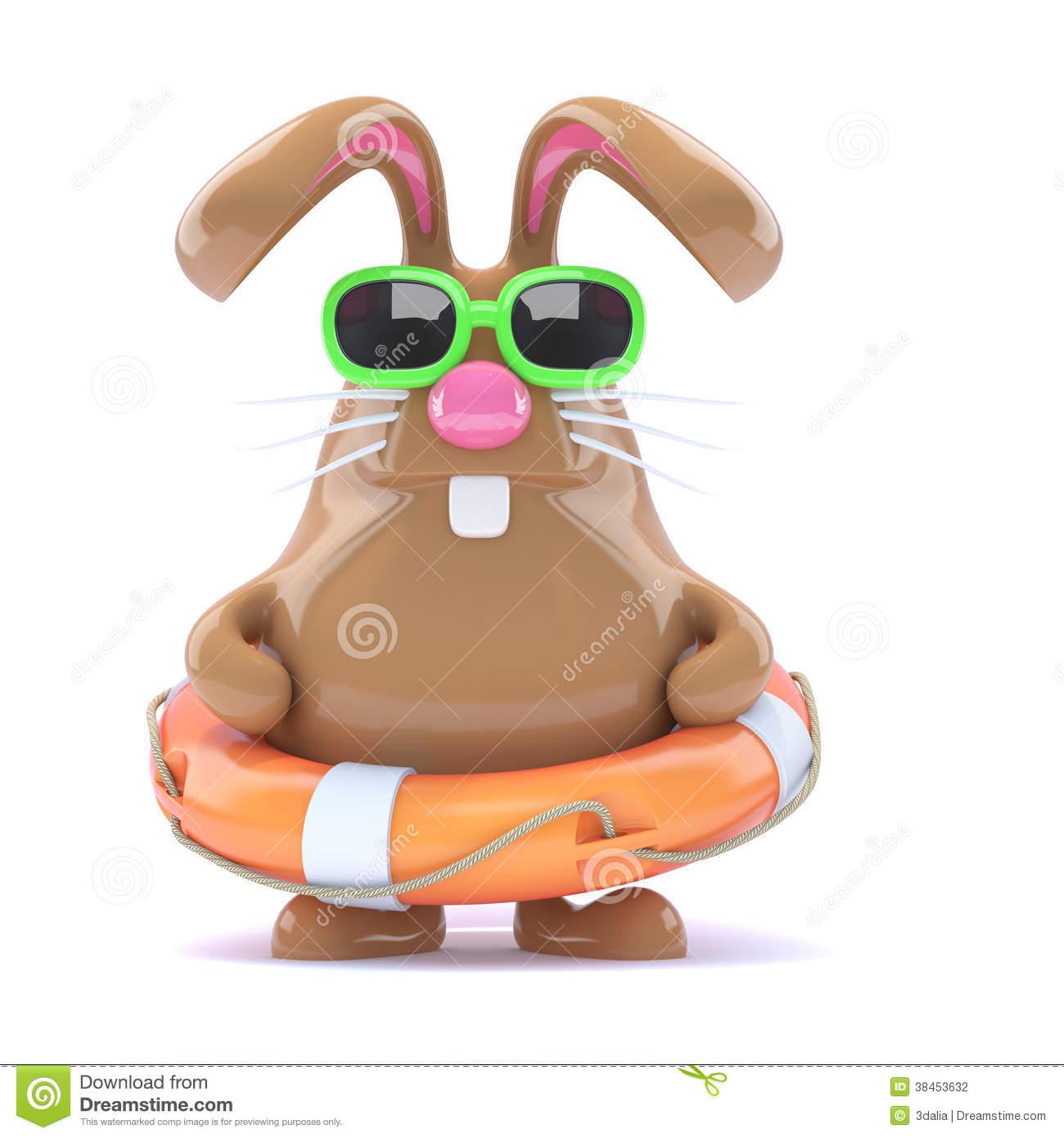 bunny clipart swimming