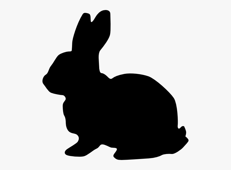 Bunny clipart vector. Silhouette of royalty domestic