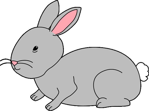 Gray . Clipart bunny