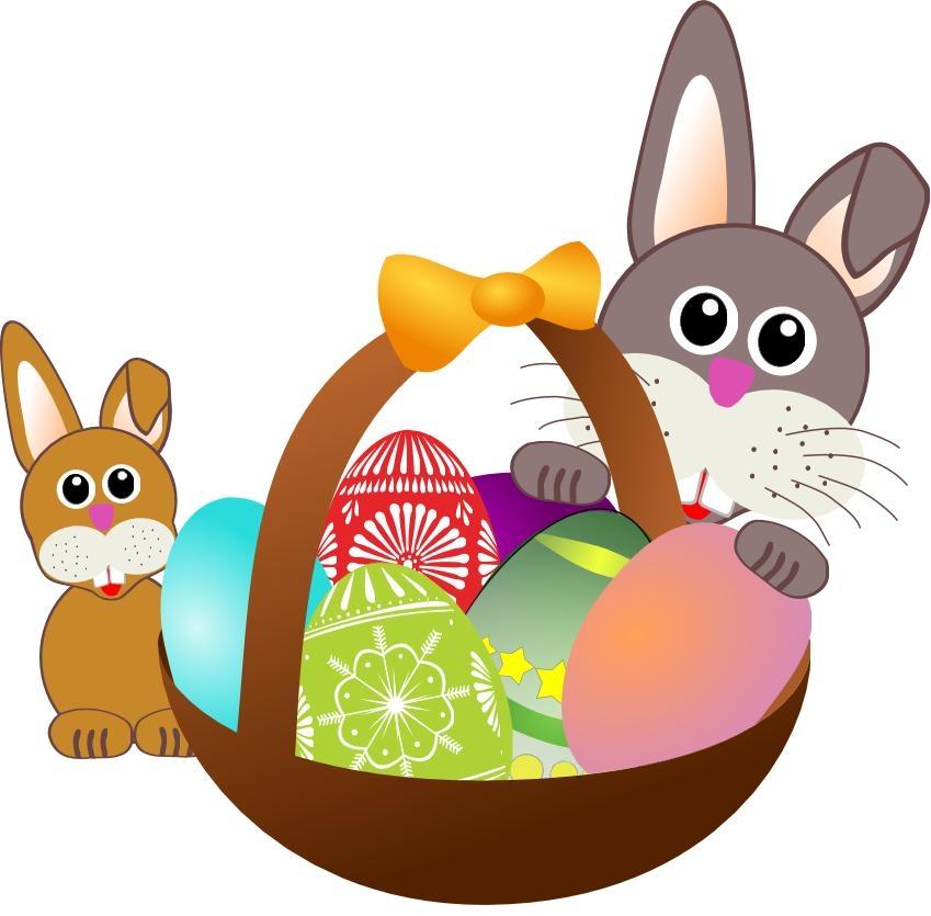 Happy easter craftshady religious. Bunny clipart adorable