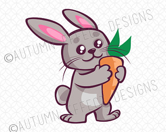 Bunny clipart adorable. Carrot svg file dxf