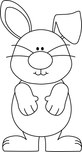 Clip art images with. Bunny clipart black and white