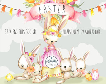 Teepee clipartwatercolor feathers and. Bunny clipart boho
