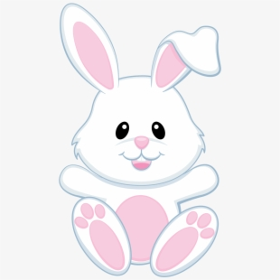 Easter black and white. Bunny clipart clip art