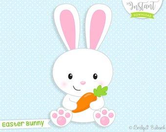 Easter etsy. Bunny clipart clip art