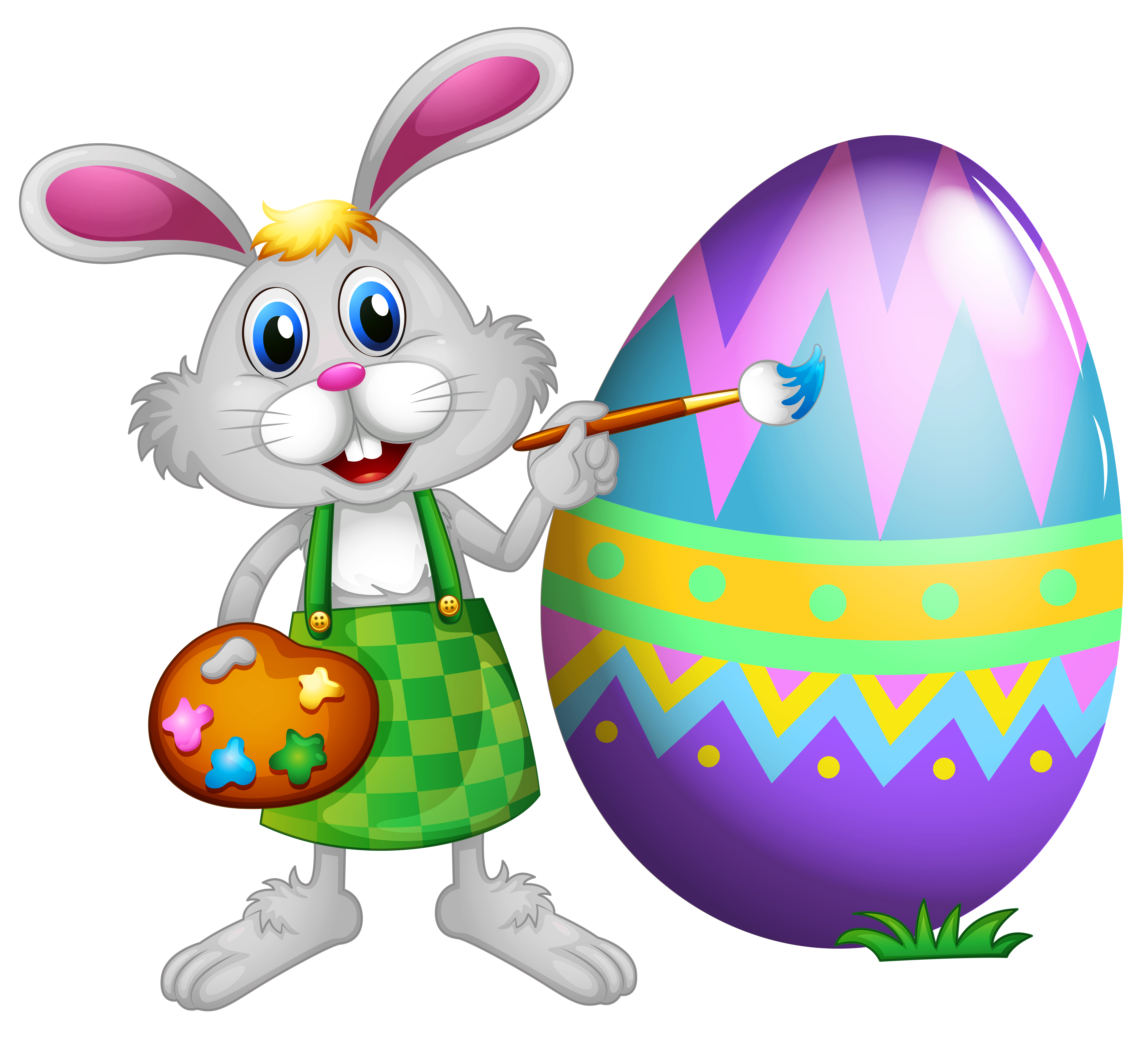 Bunny clipart colored. Easter and egg png