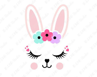 Silhouette etsy svg face. Bunny clipart cute bunny