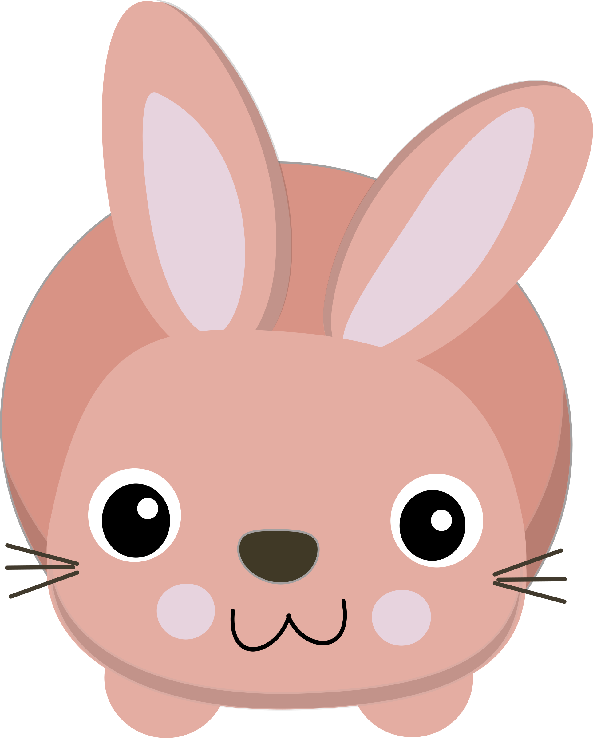 Cute bunny big image. Pet clipart rabbit