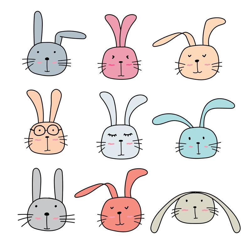 Bunny clipart cute bunny. Rabbit animal vector files
