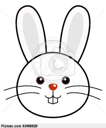 bunny clipart face
