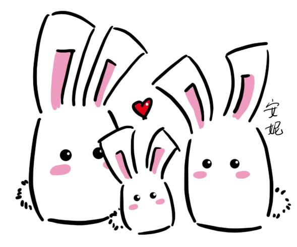 Bunny clipart family.  best hamsters charcter