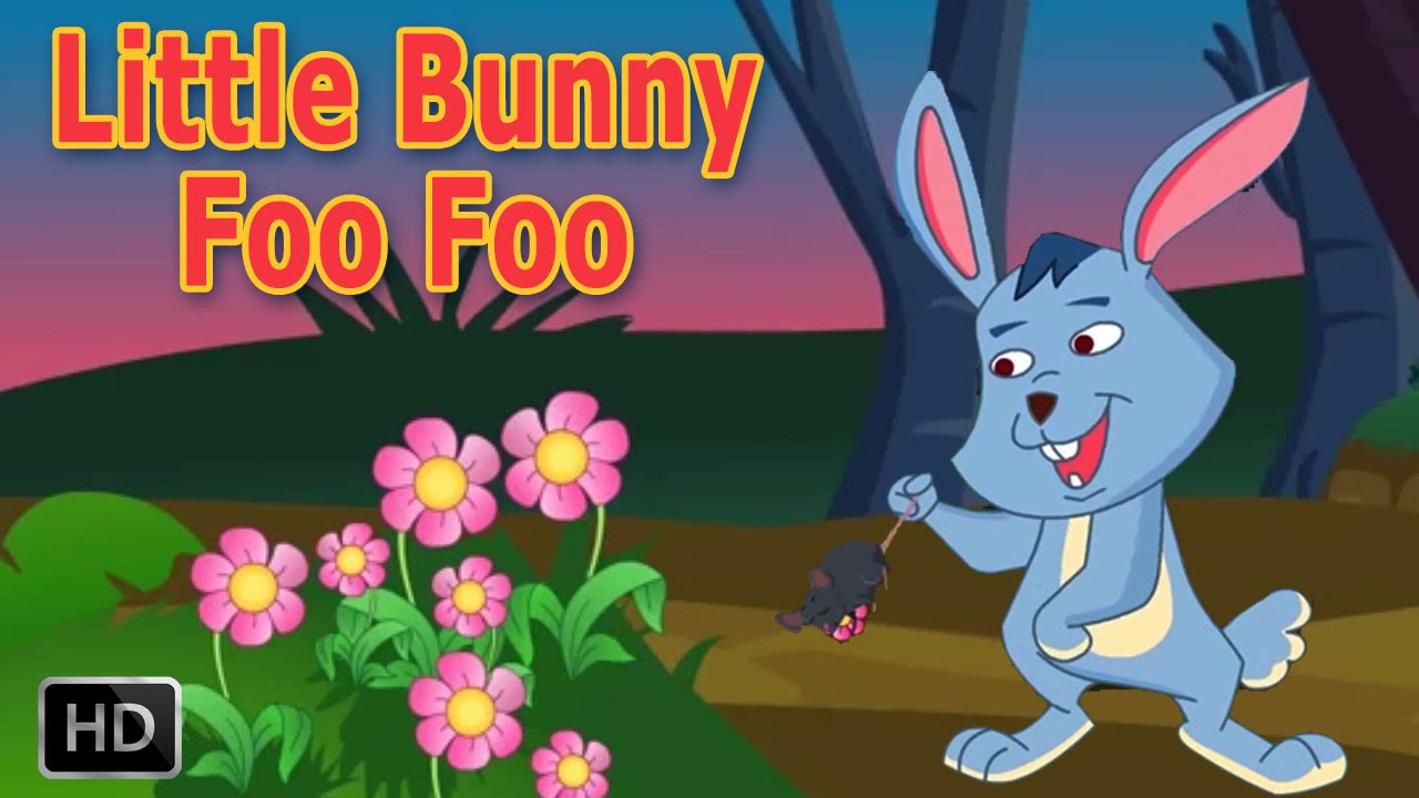 Little foo hopping through. Bunny clipart forest