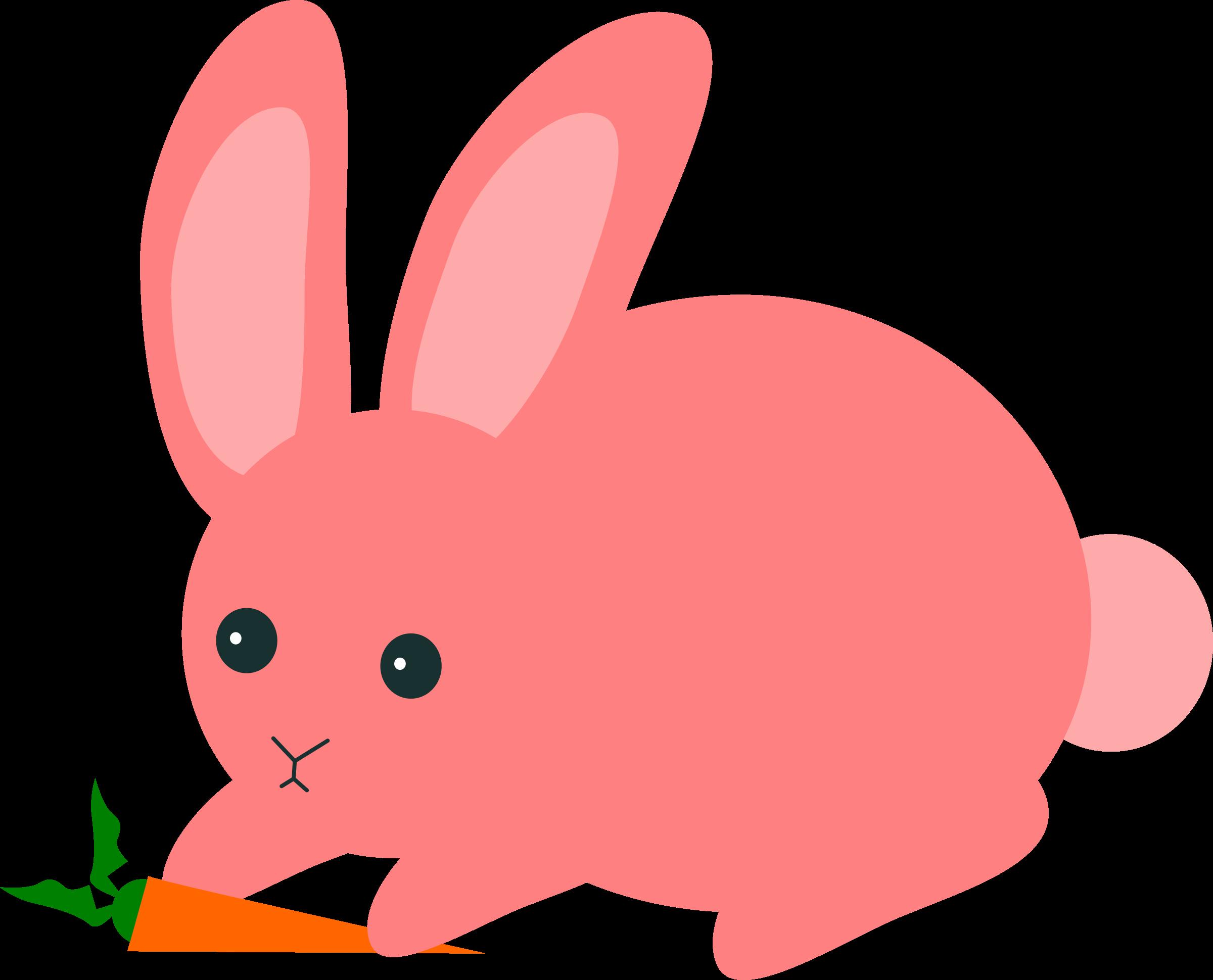 Pink big image png. Clipart rabbit carrot