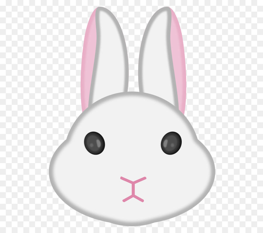 Bunny clipart head. Easter background rabbit pink