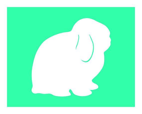 Clipart bunny mini lop. Holland print rabbit silhouette