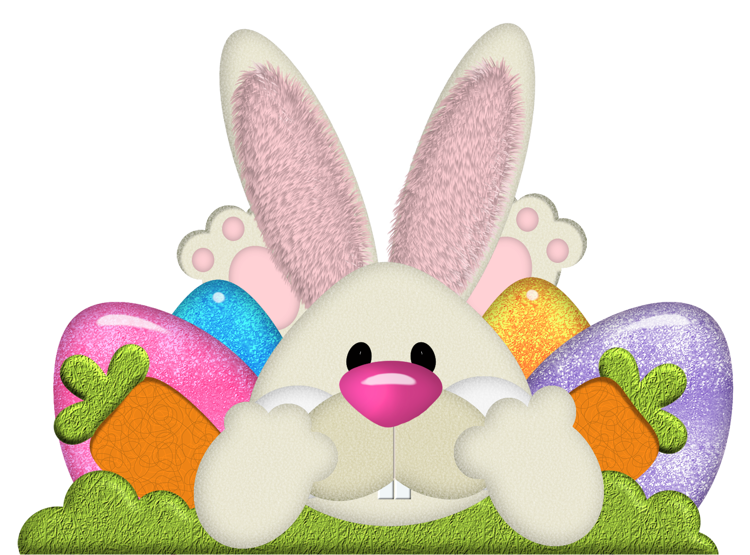 Easter with eggs transparent. Clipart bunny frame