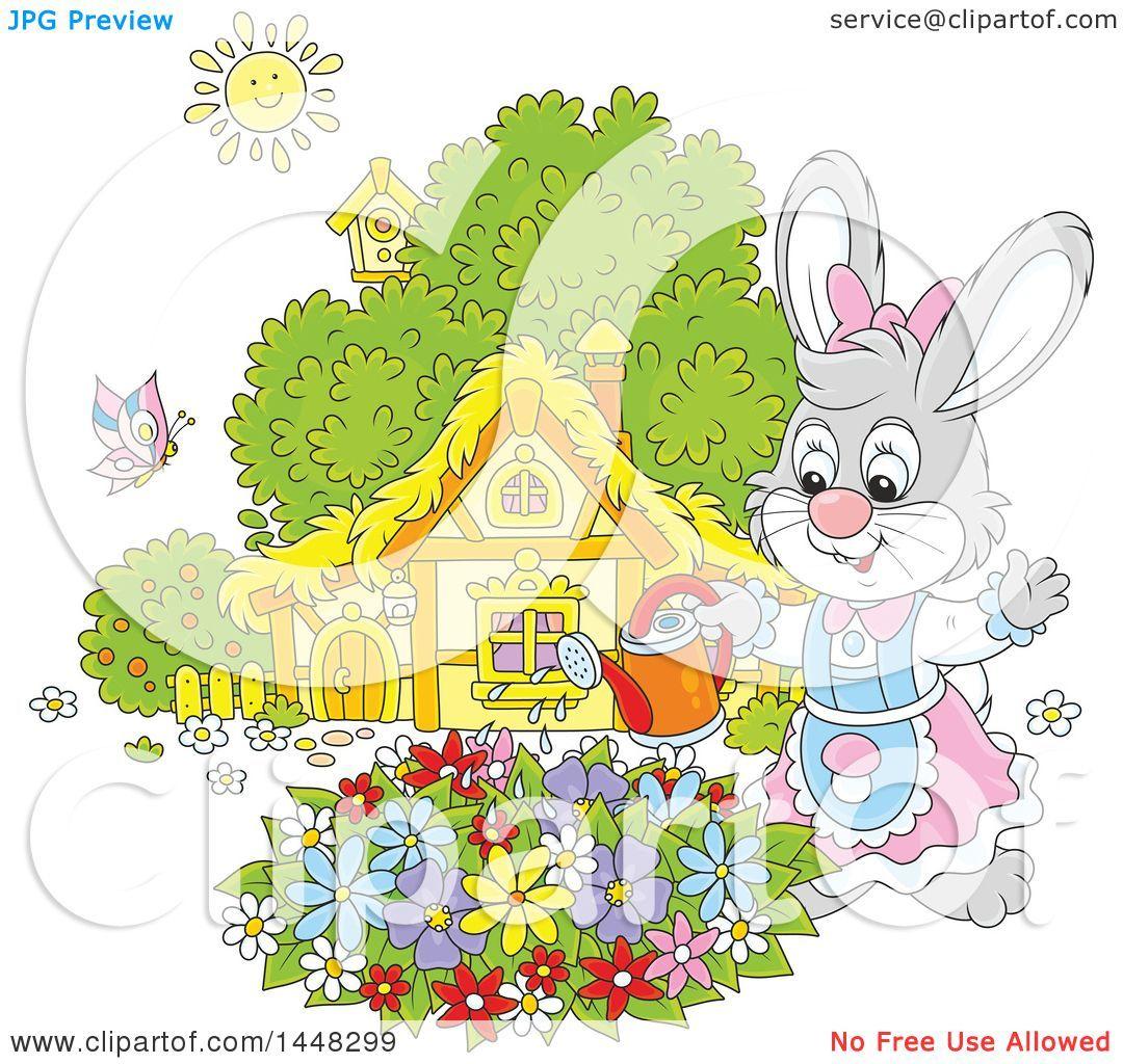 Bunny clipart home. Stunning of a cartoon