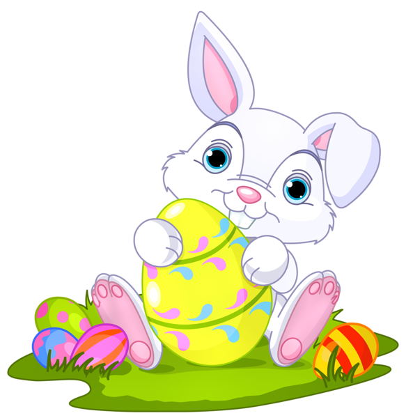 With eggs decor png. Cool clipart easter bunny