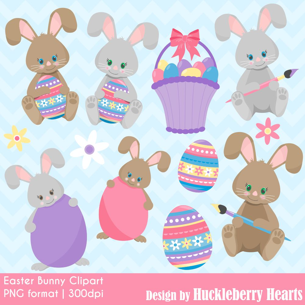 Easter huckleberry hearts . Bunny clipart home