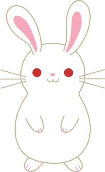 Bunny clipart kawaii.