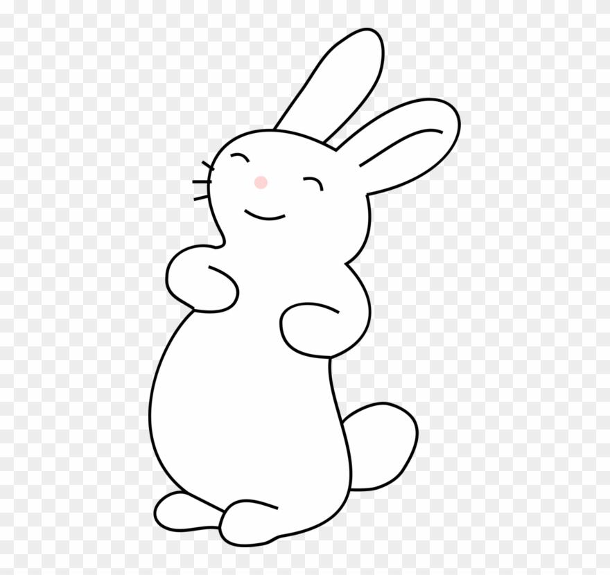 Easter bunny hare cartoon. Clipart ear white rabbit