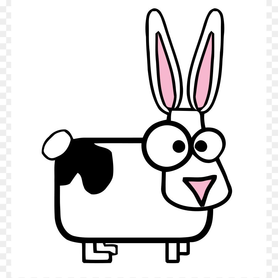 Bunny clipart line art. Holstein friesian cattle highland